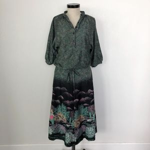 Vintage Catus 3/4 Sleeve Mid-Length Dress Size M